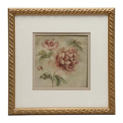 "Offset Lithograph after Cheri Blum ""Coral Rose"""