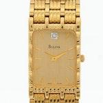 Bulova Quartz Diamond Dial Wristwatch