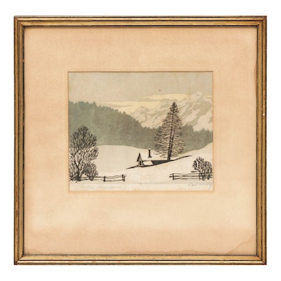 Carl Rosky Etching