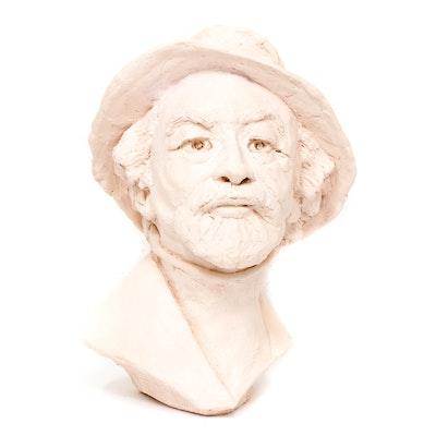 """Alan Radnor Handbuilt Ceramic Bust """"Immigrant"""""""