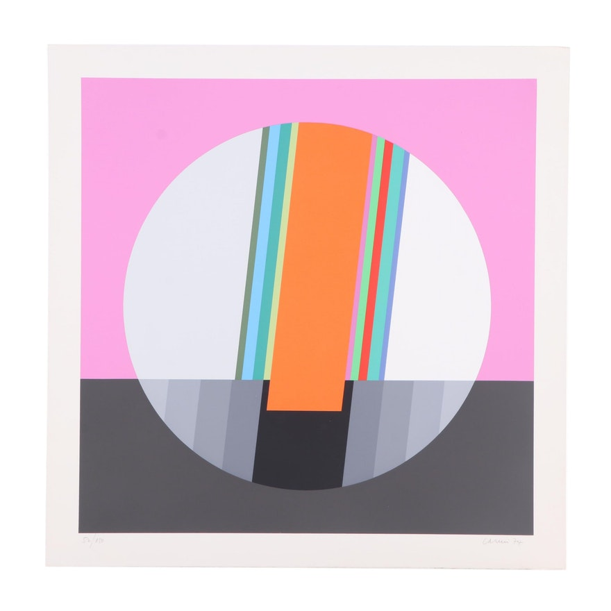 Eugenio Carmi Abstract Serigraph