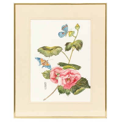 Dolly Saxbe Botanical Watercolor Painting