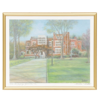 "Sandra T. Leukart Offset Lithograph ""The Jeffrey Mansion"""