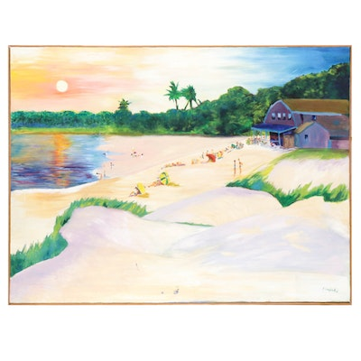 Beach Landscape Oil Painting