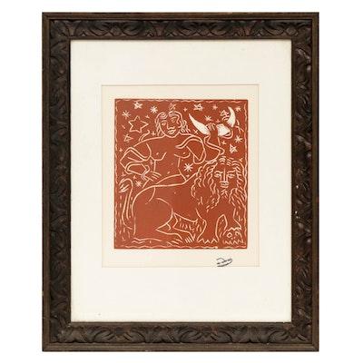 """Andre Derain Lithograph """"Zodiac"""""""