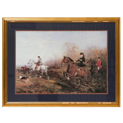 "Offset Lithograph after Heywood Hardy ""Out for a Scamper"""