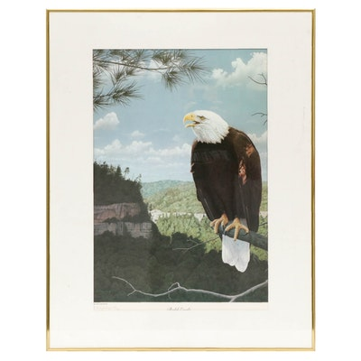 "Robert Brandenburg Offset Lithograph ""Bald Eagle"""
