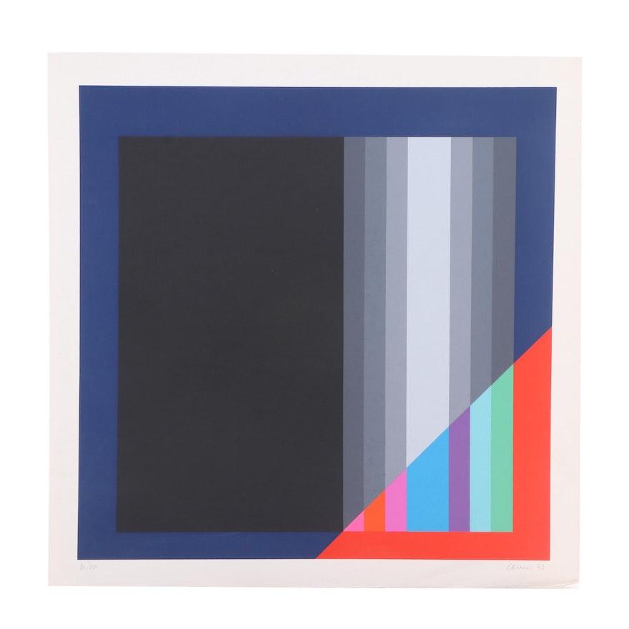 Eugenio Carmi Abstract Serigraph