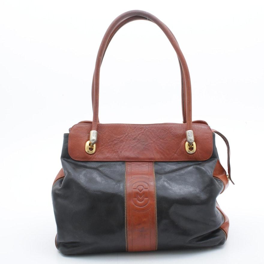 Marino Orlandi Two-Tone Leather Shoulder Bag