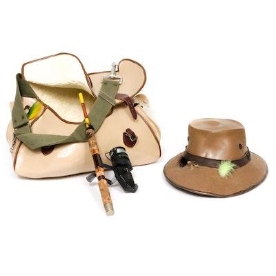 "Mark Rosen Mixed Media Sculpture ""Bag of Tricks / Lucky Hat"""