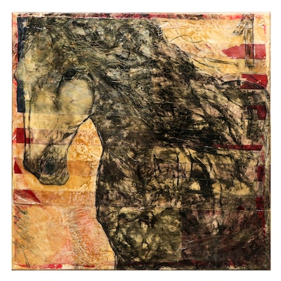 "Mixed Media Painting ""The Horse"""