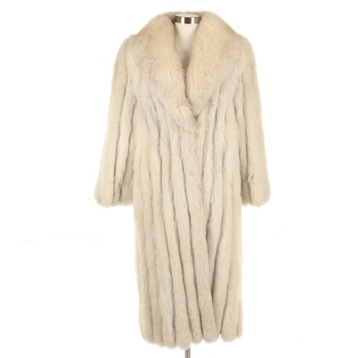 Saga Fox Fur Coat with Shawl Collar from The Leather Loft
