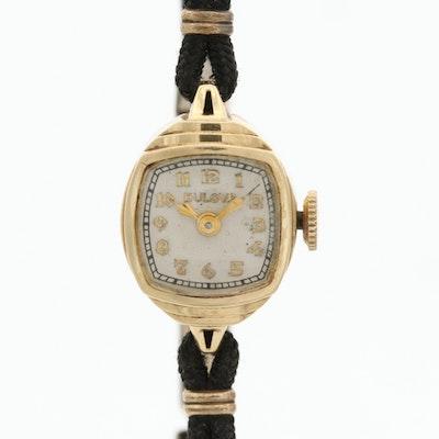 Vintage Bulova 14K Yellow Gold Wristwatch