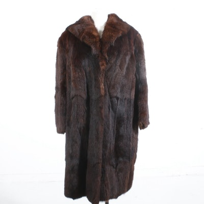 Marmot Fur Knee-Length Coat