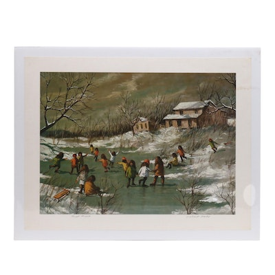 "Robert Fabe Offset Lithograph ""First Frost"""