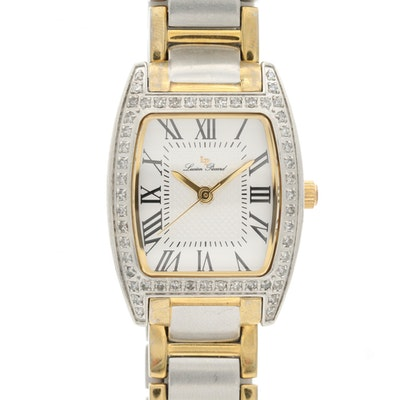 Lucien Piccard Diamond Bezel and Stainless Steel Quartz Wristwatch