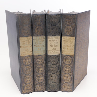 """History of Art"" by Elie Faure Illustrated Four Volume Set"