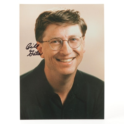 Bill Gates Signed Photograph