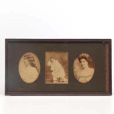 World-Renowned Tenor Enrico Caruso Autographed Photographic Display, 1910
