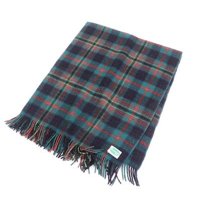 Connemara Irish Wool Plaid Blanket