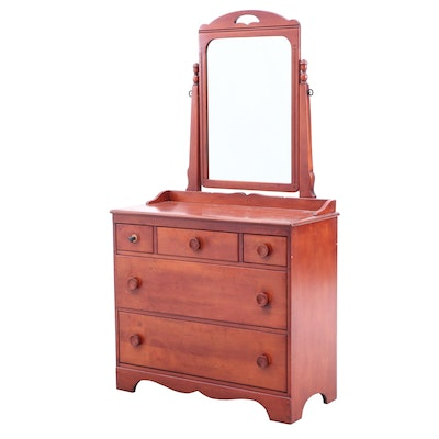 Huntly Furniture Cherry Chest of Drawers, Mid-20th Century