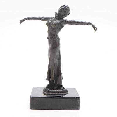 Art Deco Style Dancer Bronze Sculpture