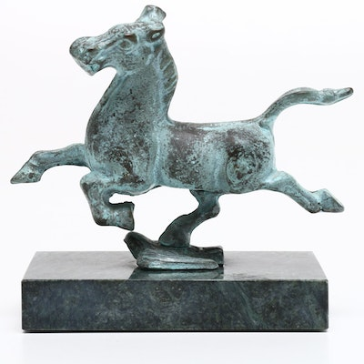 "Chinese Bronze Sculpture After ""Flying Horse of Gansu"""