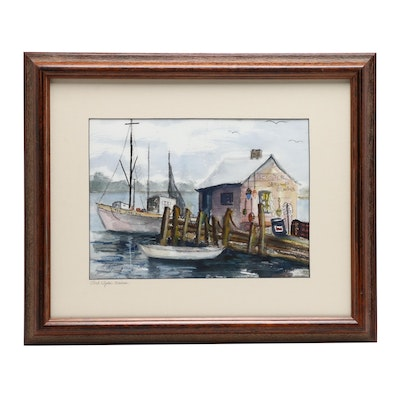 "Watercolor Painting ""Port Clyde Maine"""