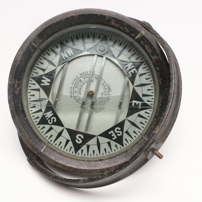 Baker Compass Co. Ship Compass, Early 20th Century