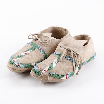 Northern Plains Beaded Moccasins, ca. 1930