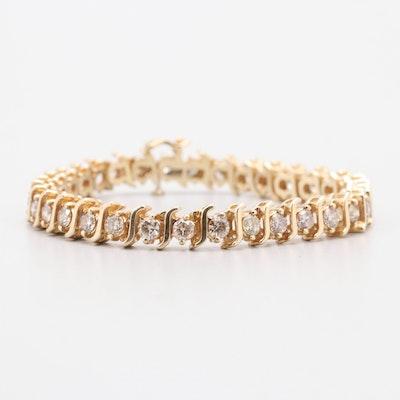 14K Yellow Gold 8.25 CTW Diamond Bracelet