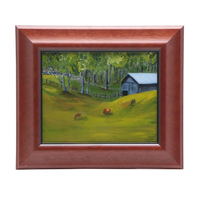 "Oil Painting ""Kentucky Field"""