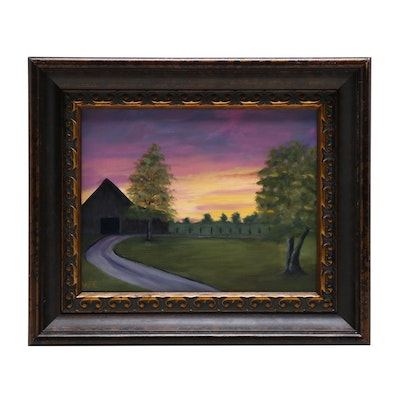"Oil Painting ""Kentucky Sunset"""