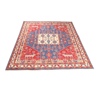 Hand-Knotted Indo-Persian Shiraz Wool Room Sized Rug
