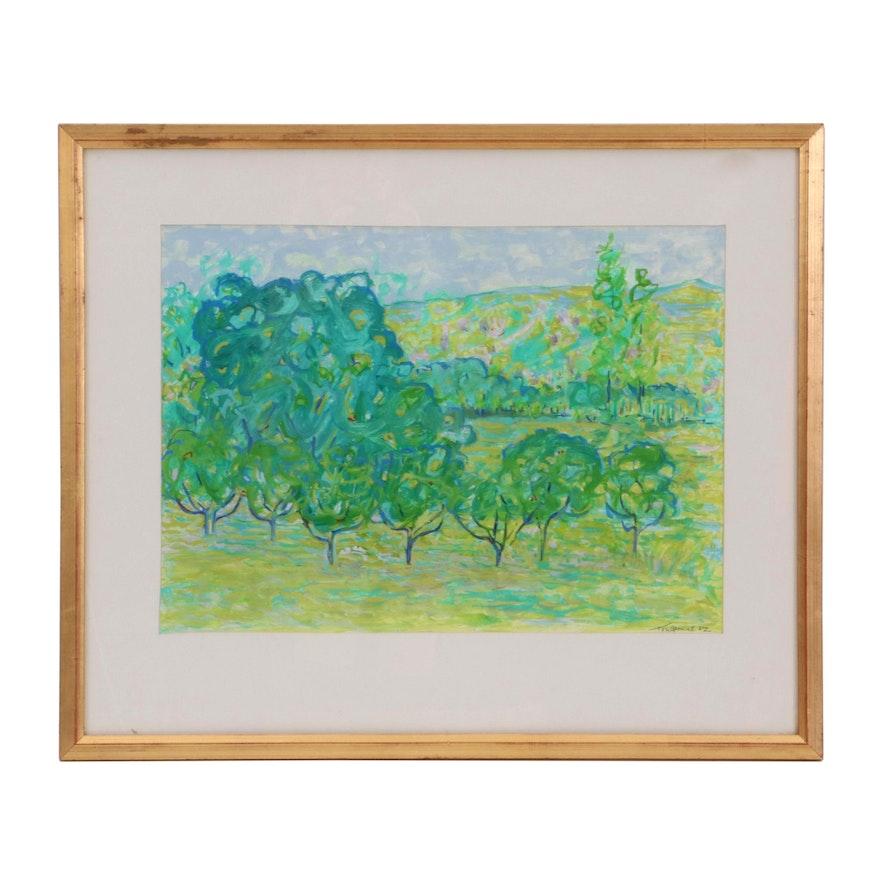 """Jean Marie Toulgouat Oil Painting """"Ah, Les Beaux Arbres"""""""