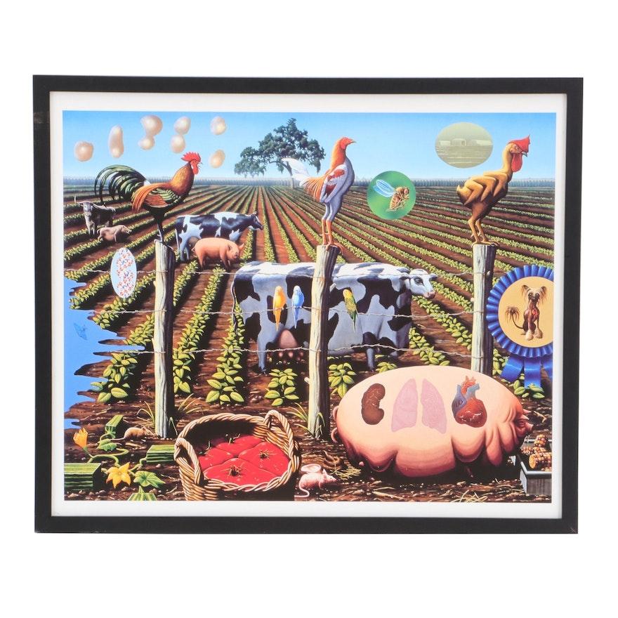 "Alexis Rockman Giclée ""The Farm"""