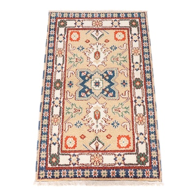 Hand-Knotted Indian Heriz Wool Rug