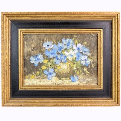 Impasto Style Still Life Oil Painting