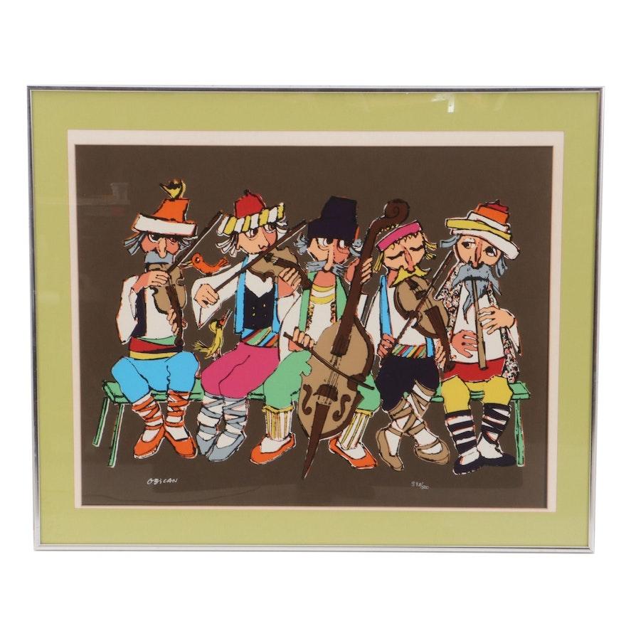 Jovan Obican Folk Band Serigraph