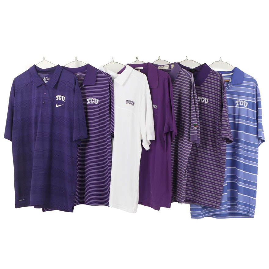 TCU logo Golf Shirts Including Peter Millar, Tiger Woods and Nike