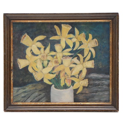 Still Life Oil Painting of Daffodils