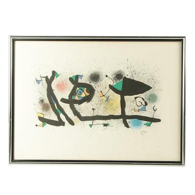 "Joan Miro Lithograph ""Sculptures"""