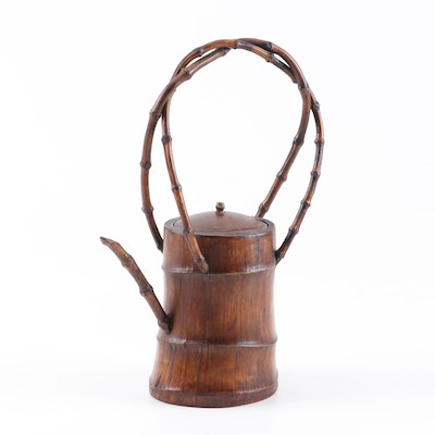 Chinese Bamboo Teapot, Late Qing Dynasty
