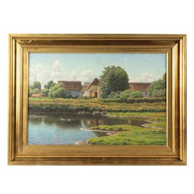 Henrik Jesperson Oil Landscape Painting