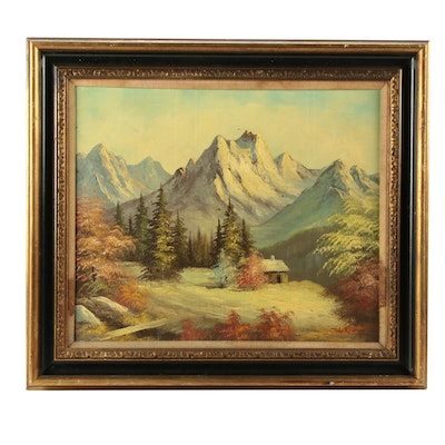 Robert Moore Mid Century Oil Landscape Painting