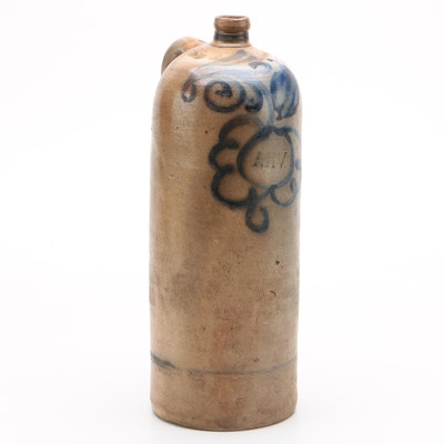Afrikaanse Handels Vennootschap Salt Glazed Jug, Late 19th Century
