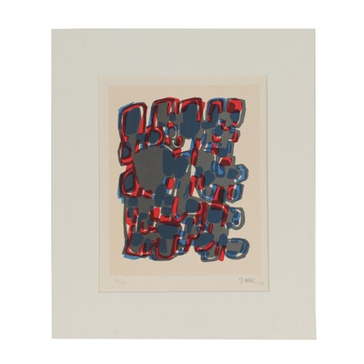 """Raoul Ubac 1960 Lithograph """"Formes Groupées I"""""""