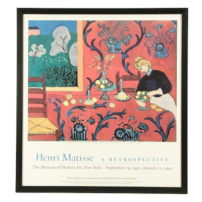 Offset Lithograph Exhibition Poster After Henri Matisse