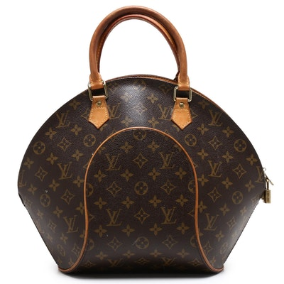 Louis Vuitton Monogram Canvas and Leather Ellipse Handbag