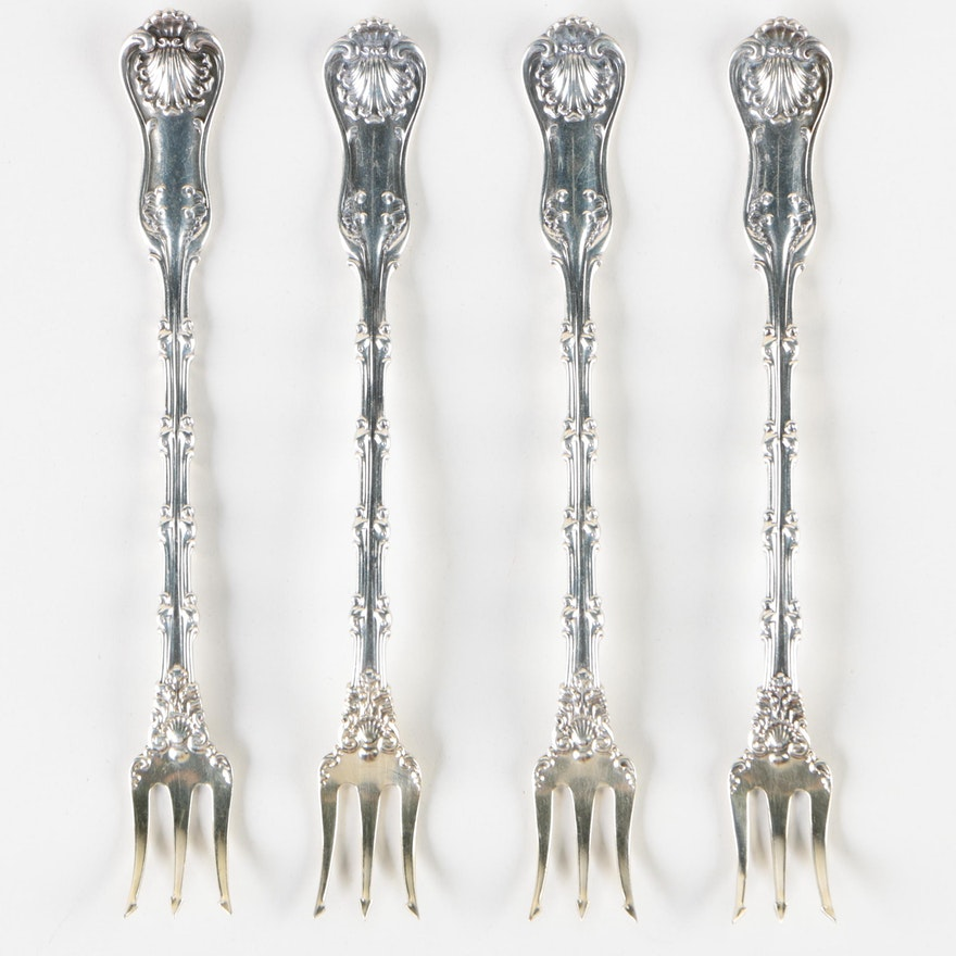 "Whiting Mfg. Co. ""Imperial Queen"" Sterling Silver Cocktail Forks"
